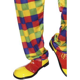 Clown schoenen, rood en geel