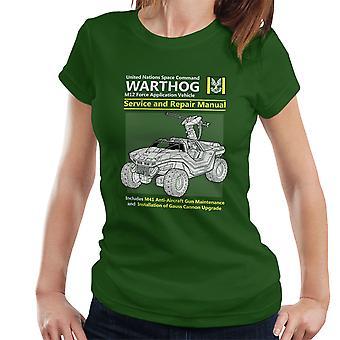 Halo Warthog Service en reparatie van handmatige Women's T-Shirt