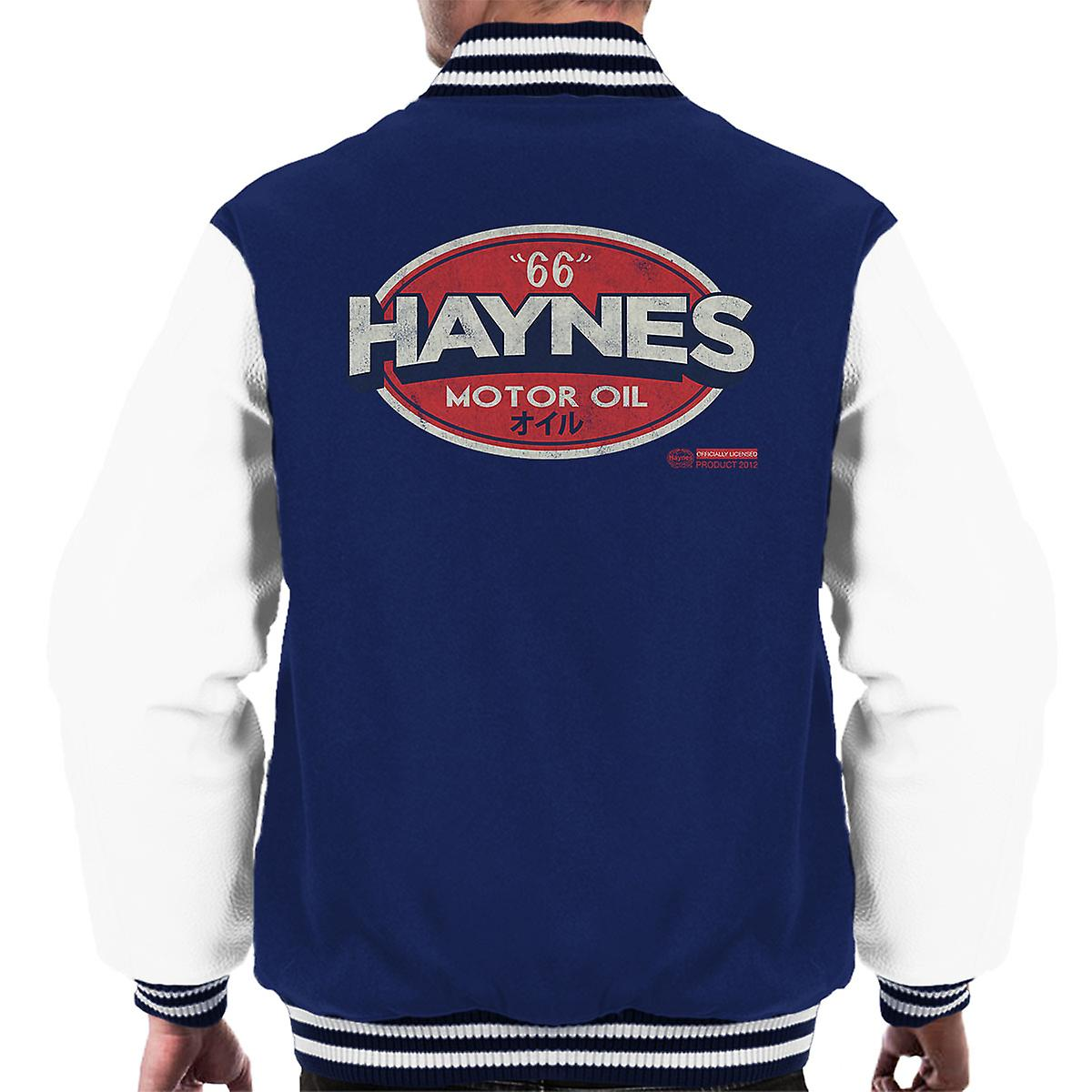 Haynes 66 Motor olje Gulf Logo menn Varsity jakke