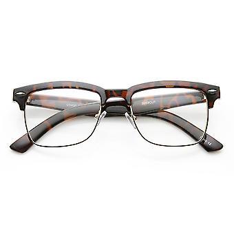 Unisex Square Medium semi-uindfattede moderne mode briller