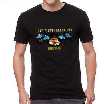 The Fifth Element Cars Poster Men's Black T-shirt