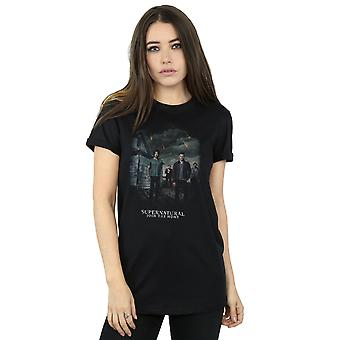 Bovennatuurlijke vrouw meteorenzwerm Boyfriend Fit T-Shirt
