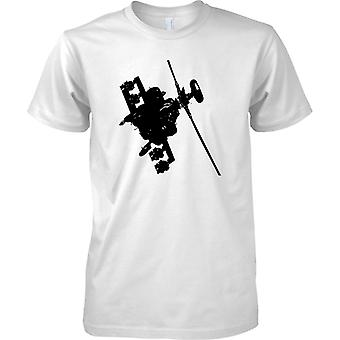 Apache Helicopter Flying - Awesome Military Chopper - Kids T Shirt
