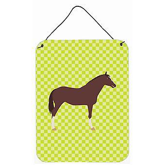 Anglais des pur-sang cheval porte accrocher impressions ou mur vert