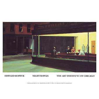 Nighthawks Poster Print von Edward Hopper (17 x 12)