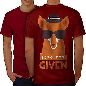 Zero Fox Given Urban Men RedT-shirt Back | Wellcoda