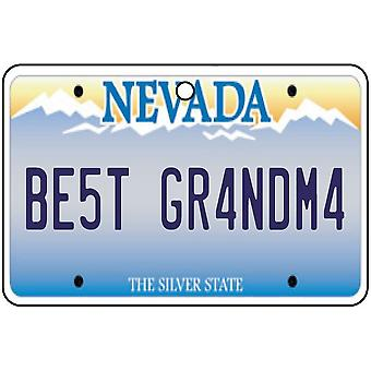 Nevada - Best Grandma License Plate Car Air Freshener