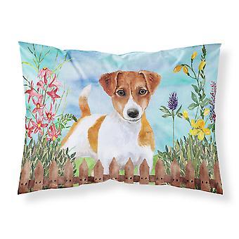 Jack Russell Terrier Spring Fabric Standard Pillowcase