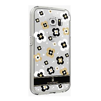 5 Pack -Milk And Honey Clear Cover Case for Samsung Galaxy S6 (Gold Flower)
