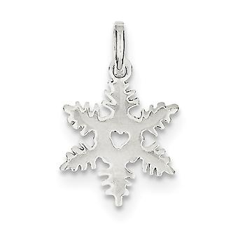 925 Sterling Silver Solid Polished Snowflake Charm Pendant Necklace Jewelry Gifts for Women