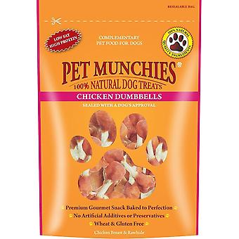 Animal de casă Munchies natural Cîine Treats pui Dumbbells 80g (Pack de 8)