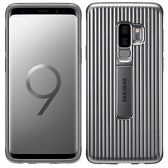 Samsung Protective Standing Cover EF-RG965CSEGWW für Galaxy S9 Plus G965F Tasche Hülle Case Silber