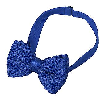 Royal Blue Grenadine Knitted Silk Pre-Tied Bow Tie