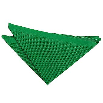 Forest Green Knitted Pocket Square