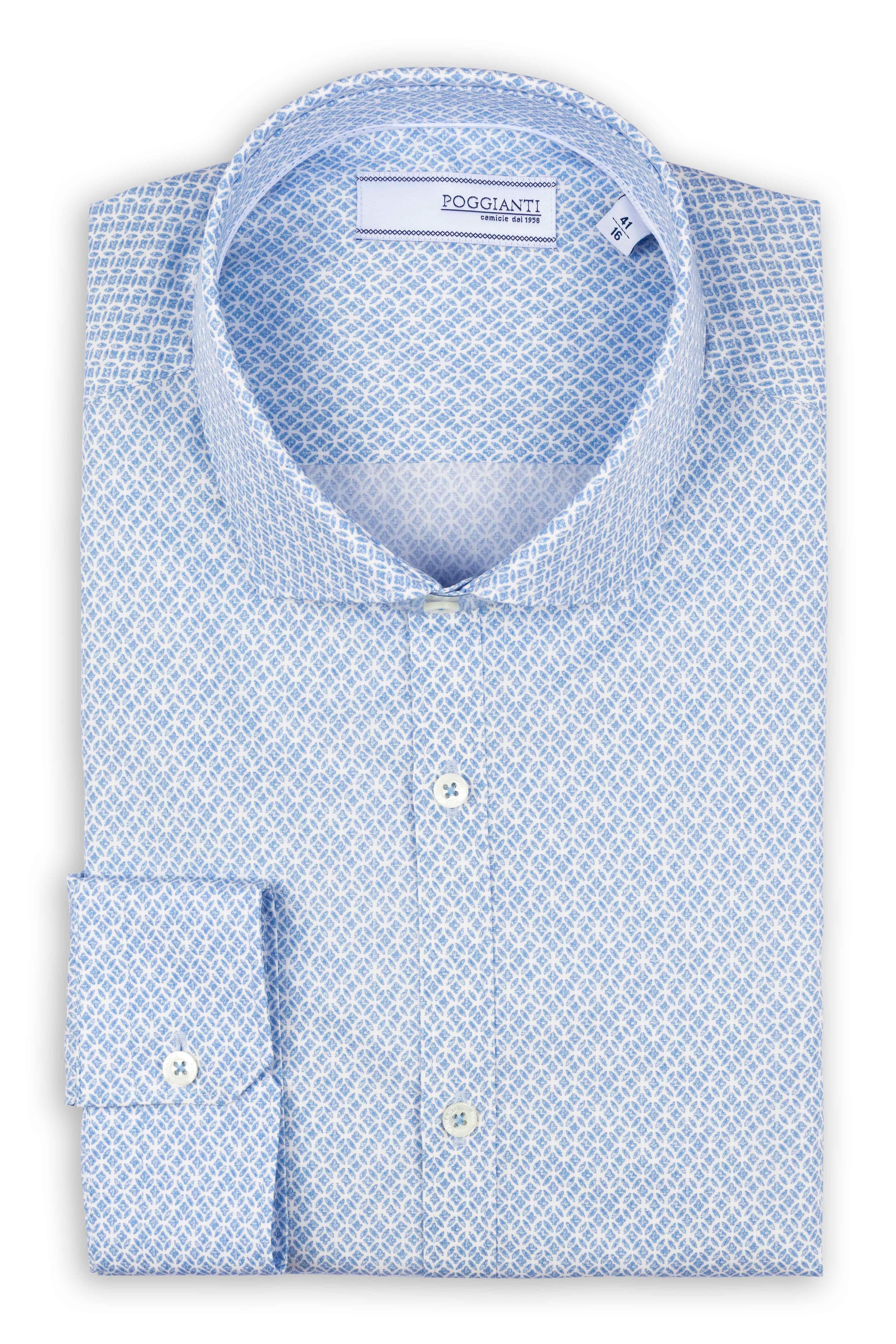 Fabio Giovanni Le Torri Shirt - Mens Italian Casual Stylish Shirt 100% Cotton - Long Sleeve
