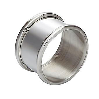 Plain Single Christening Pewter Napkin ring