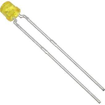 Vishay TLVY4200 LED wired gule cylindrisk 3 mm 30 mcd 170 ° 30 mA 2,4 V