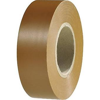 HellermannTyton 710-10608 elektrische tape HelaTape Flex 1000 + Brown (L x W) 20 m x 19 mm 1 rollen