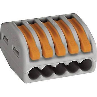 WAGO 222-415 Connector clip flexible: 0.08-4 mm² rigid: 0.08-2.5 mm² Number of pins: 5 1 pc(s) Grey, Orange