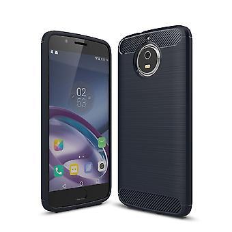 Motorola Moto G5 TPU asia carbon fiber optiikka harjattu suojaava operaatio sininen