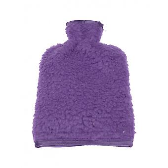 Hot water bottle cover wool of purple 20/30 cm