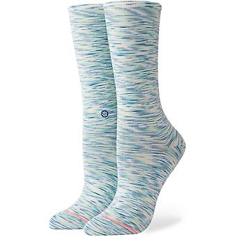 Stance Spacer Crew Crew Socks in Light Blue