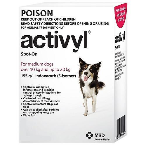 Activyl Spot-on 300mg For Medium Dogs 10-20 kg (23-44 lbs)