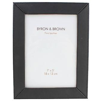 Byron and Brown Nappa Slim Classic Photo Frame 5x7 - Black
