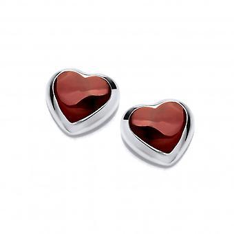Cavendish francese Cappuccetto rosso e argento amore cuore orecchini