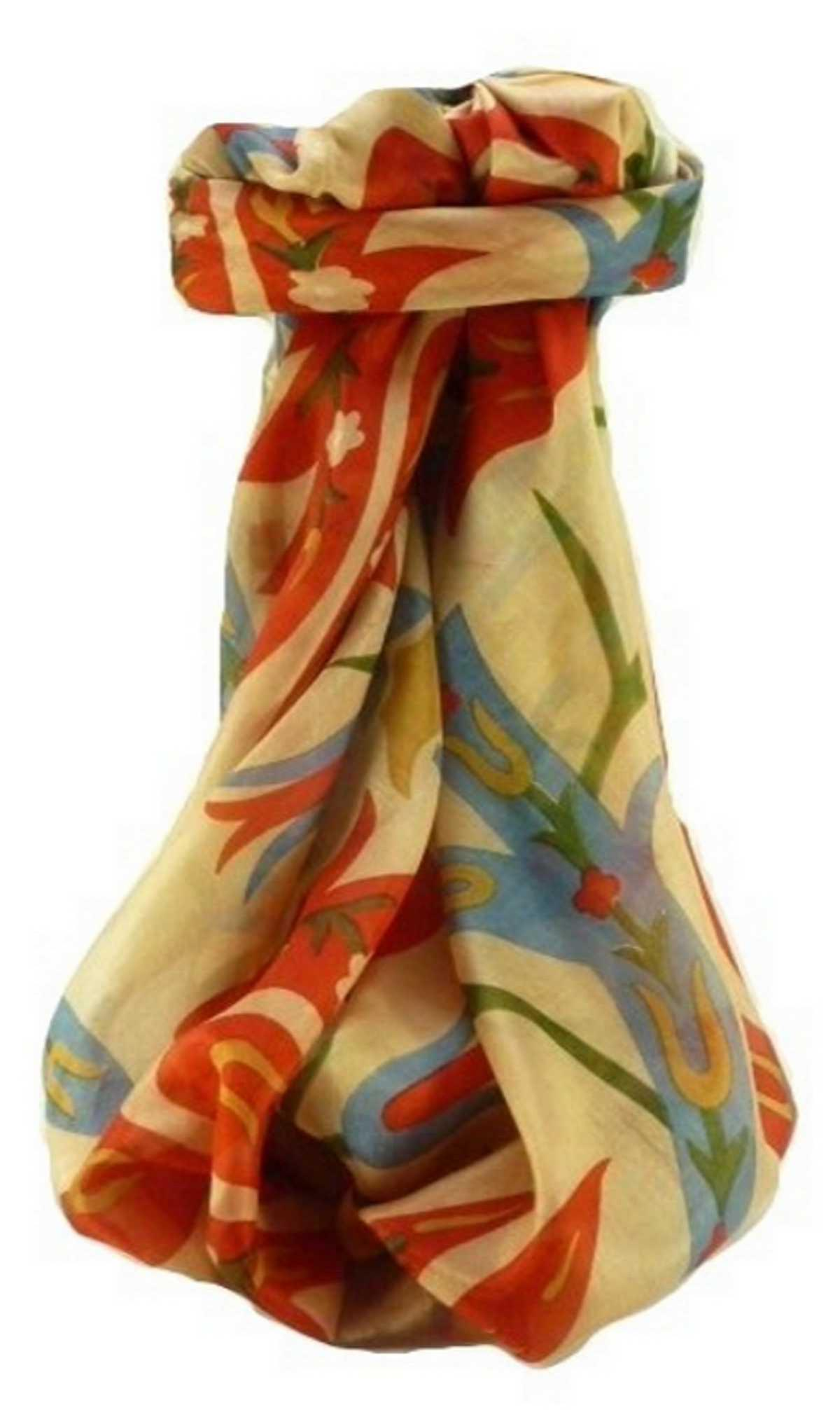 Mulberry Silk Contemporary Square Scarf Abstract A321 by Pashmina & Silk