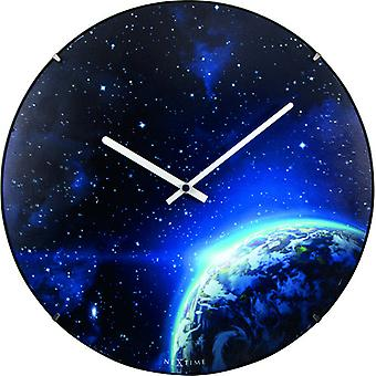 NeXtime NE-3176 Wandklok Dia. 35 Cm, Bol Glas, 'Globe Dome'
