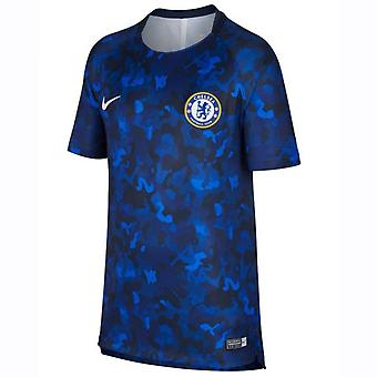 2018-2019 Chelsea Nike Maç Öncesi Antrenman Forması (Hyper Cobalt) - Çocuklar