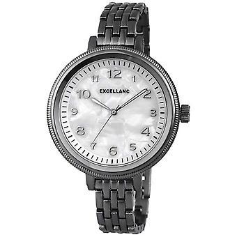 Excellanc 151072000003-wristwatch, different materials, color: black