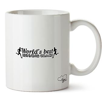 Hippowarehouse World's  Best Running Coach Printed Mug Cup Ceramic 10oz