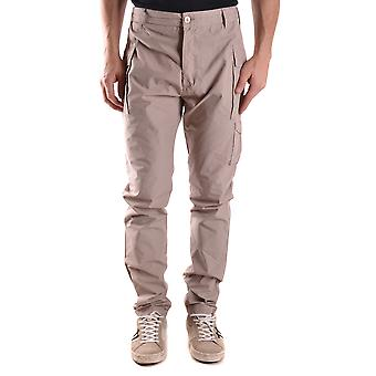 Daniele Alessandrini Ezbc107184 Men's Beige Cotton Pants