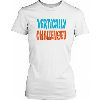 Vertikal herausgefordert - lustiger Witz Damen T Shirt