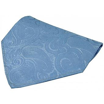 David Van Hagen Luxury Paisley Silk Handkerchief - Blue