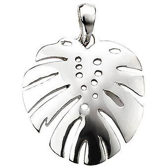 Początki Palm Tree liści wisiorek - srebrny