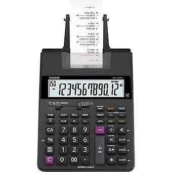 Casio HR-150 RCE Calculator with built-in printer Black Display (digits): 12 battery-powered, mains-powered (optional) (W x H x D) 165 x 65 x 295 mm