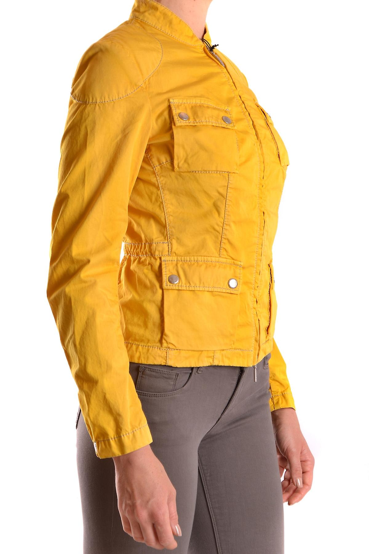 Brema Ezbc146009 Mujer's Chaqueta de Algodón Amarillo