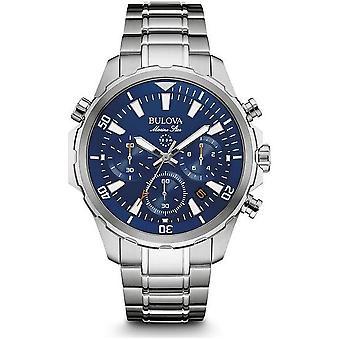 Bulova-marine Star 96B256 montre-bracelet chronographe étoile marine pour homme