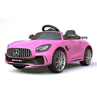 Licensed Mercedes Benz GTR 12V Motors Kids Electric Ride On Car Pink