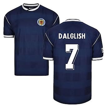 Score Draw Scotland 1986 Retro Football Shirt (Dalglish 7)