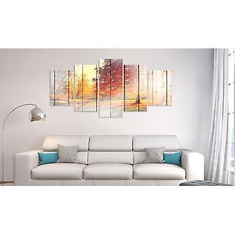 Maalaus - Syksyn aurinko (5 osaa) Leveä100x50