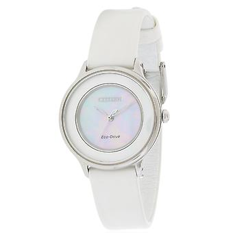Citizen Eco-Drive Circle of Time Leather Ladies Watch EM0381-03D