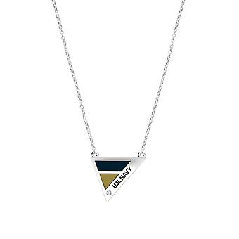 U.S. Navy Engraved Sterling Silver Diamond Geometric