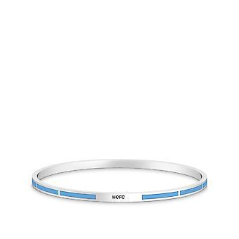 Pulsera Manchester City FC en diseño de plata de ley por BIXLER