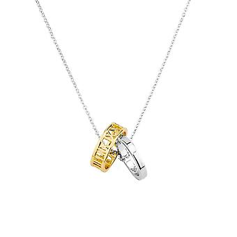 Eternal Collection Promise Two Tone Ring Pendant Necklace