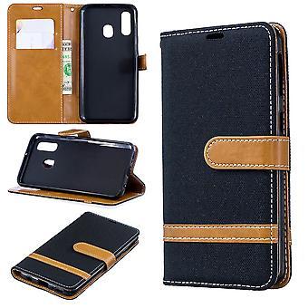 Samsung Galaxy A40 teléfono de protección de la caja de la funda de la cubierta de la caja de la caja negro