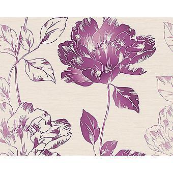 A.S. creatie pure Floral blad bloemmotief getextureerde behang 958815